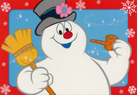 Frosty the Snowman (1 card/1 envelope) - Christmas Card  INSIDE: May your holidays be filled with a special kind of magic!