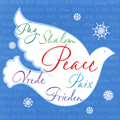 Peace Dove on Blue (1 card/1 envelope) Image Arts Christmas Card