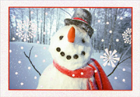 Happy Snowman (40 cards/40 envelopes) - Boxed Christmas Cards  INSIDE: Hope lots of Christmas smiles are headed your way.