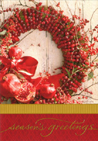 Pomegranate Wreath (40 cards/40 envelopes) Image Arts Boxed Christmas Cards