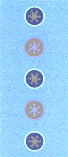 Silver Snowflakes (1 card/1 envelope) - Holiday Card - FRONT: No Text  INSIDE: May every joy of the season be yours!