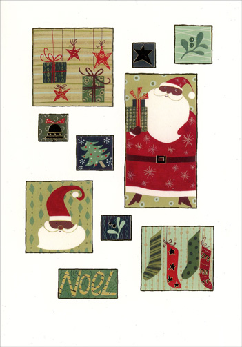 Christmas Icons (1 card/1 envelope) Image Arts Christmas Card - FRONT: Noel  INSIDE: Hope each Christmas moment is filled with all that brings you joy!
