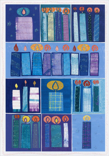 Hanukkah Candles (1 card/1 envelope) Image Arts Hanukkah Card  INSIDE: For eight festive days and eight candlelit nights, may you feel the special joy that is Hanukkah.