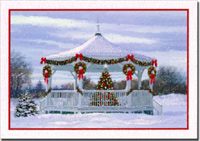 Gazebo Value Box (40 cards/40 envelopes) - Boxed Christmas Cards  INSIDE: Thinking of you and wishing you a beautiful Christmastime.