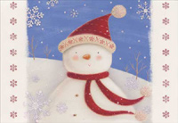 Snowman with Red Scarf (40 cards/40 envelopes) Image Arts Boxed Christmas Cards