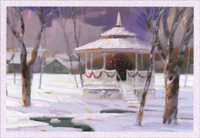 Winter Gazebo (1 card/1 envelope) Image Arts Christmas Card
