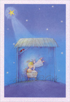 Angel with Baby (1 card/1 envelope) Image Arts Christmas Card