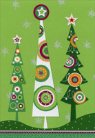 Tall Trees (1 card/1 envelope) - Christmas Card  INSIDE: Tis the season� Hope it's very merry!