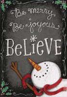 Believe Snowman (1 card/1 envelope) Image Arts Christmas Card