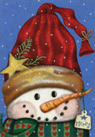 Red Hat Snowman (16 cards/16 envelopes) Image Arts Boxed Christmas Cards