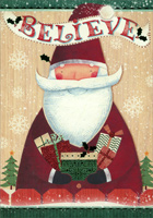 Believe Santa (16 cards/16 envelopes) - Boxed Christmas Cards - FRONT: Believe  INSIDE: Wishing you the special joy that only Christmas brings.