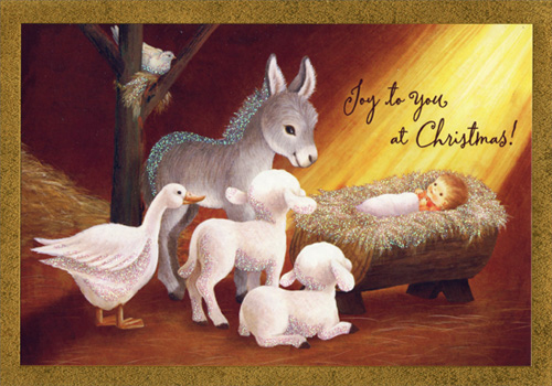 Manger Scene Religious Christmas Card By Image Arts