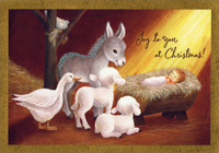 Manger Scene (1 card/1 envelope) Image Arts Religious Christmas Card