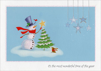 Snowman with Star (1 card/1 envelope) Image Arts Christmas Card