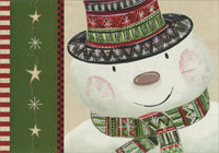 Snowman Top Hat (1 card/1 envelope) - Christmas Card  INSIDE: Wishing you a magical, memorable holiday season.