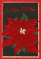 Red Poinsettias (1 card/1 envelope) Image Arts Christmas Card