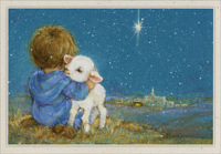 Shephard Boy with Lamb (16 cards/16 envelopes) Image Arts Boxed Christmas Cards