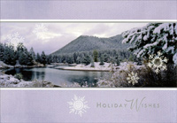 Mountains (16 cards/16 envelopes) Image Arts Boxed Christmas Cards