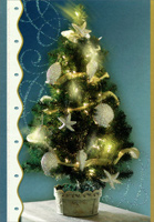 Sea Shell Ornaments in Tree (16 cards/16 envelopes) - Boxed Christmas Cards  INSIDE: May the warmth and goodwill of the season fill your heart and home with happiness.