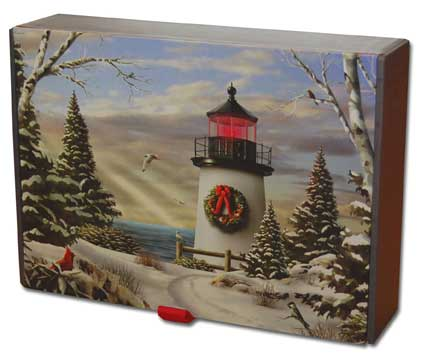 Light of the Season Keepsake Box (20 cards & 20 envelopes) Assorted Boxed Christmas Cards - FRONT: Various  INSIDE: Various