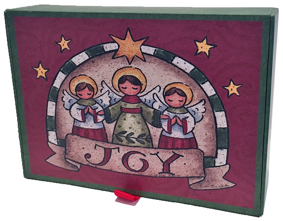 Angels Of Joy Glitter With Keepsake Box Box Of 14 Christmas Cards