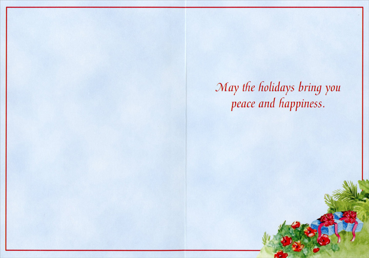 Christmas in Paradise (1 card/1 envelope) - Holiday Card - FRONT: No Text  INSIDE: May the holidays bring you peace and happiness.