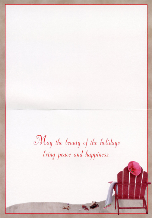 Holiday Tranquility (1 card/1 envelope) - Holiday Card - FRONT: No Text  INSIDE: May the beauty of the holidays bring peace and happiness.