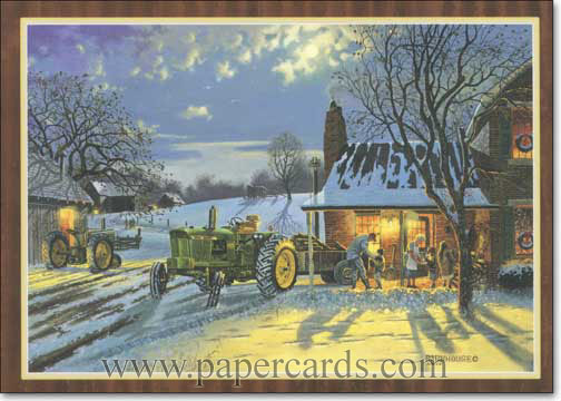 The Warmth of Home (1 card/1 envelope) - Holiday Card - FRONT: No Text  INSIDE: May the warmth of home fill your holidays with happy times and everlasting memories.