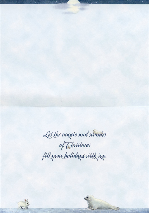 Sleigh of Friends (1 card/1 envelope) LPG Christmas Card - FRONT: No Text  INSIDE: Let the magic and wonder of Christmas fill your holidays with joy.