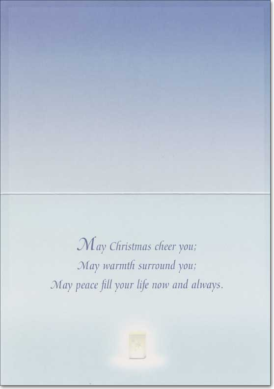 Lighting the Way (1 card/1 envelope) LPG Alan Giana Christmas Card - FRONT: No Text  INSIDE: May Christmas cheer you; May warmth surround you; May peace fill your life now and always.