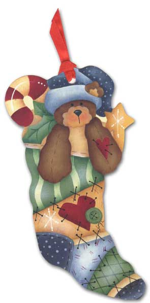 Bear Pocket Ornament Card (1 card/1 envelope) - Holiday Card - FRONT: No Text  INSIDE: Have a happy holiday season and the best New Year ever!
