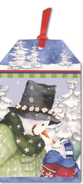 Frank & Frank Jr Pocket Ornament Card (1 card/1 envelope) - Holiday Card - FRONT: No Text  INSIDE: May your holidays and New Year be filled with those you love.