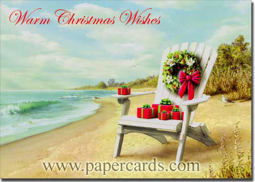 Presents for You (1 card/1 envelope) Alan Giana Christmas Card - FRONT: Warm Christmas Wishes  INSIDE: Warm wishes for holidays filled with special moments and happy memories. - Merry Christmas - Happy New Year