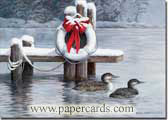 Loons of Winter (18 cards/18 envelopes) - Boxed Christmas Cards  INSIDE: May nature's gifts and the spirit of the holidays bring you peace and joy.