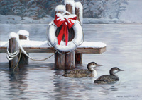 Loons of Winter Box of 18 Christmas Cards
