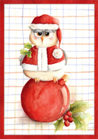 Real Hoot Christmas Owl (1 card/1 envelope) - Christmas Card  INSIDE: Hope your holidays are a real hoot!