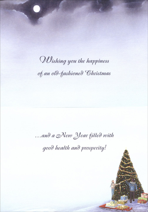Old Fashioned Christmas: Rejoice (1 card/1 envelope) Christmas Card  INSIDE: Wishing you the happiness of an old-fashioned Christmas �and a New Year filled with good health and prosperity!