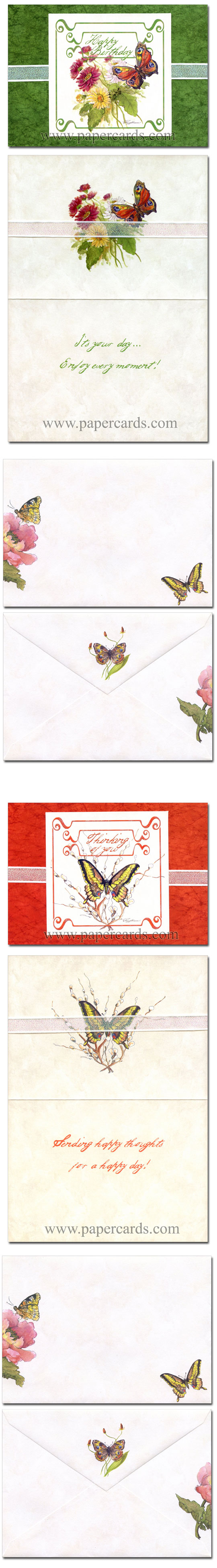 Nature's Gifts (12 cards & 12 envelopes) Assorted Peggy Abrams All Occasion Cards