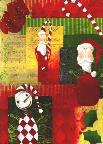 Christmas Collage (1 card/1 envelope) - Christmas Card - FRONT: No Text  INSIDE: May your holidays be filled with the special magic that only Christmas brings.