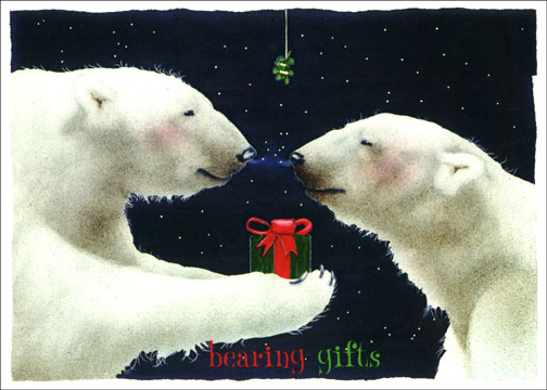 Bearing Gifts (1 card/1 envelope) - Christmas Card - FRONT: bearing gifts  INSIDE: May the love of family and friends be the best gift that you receive this Christmas.