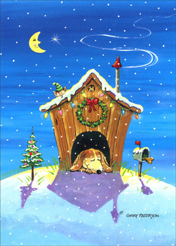 Home for the Holidays (1 card/1 envelope) - Christmas Card - FRONT: No Text  INSIDE: There's no place like home for the holidays - hope yours is filled with happiness and peace.