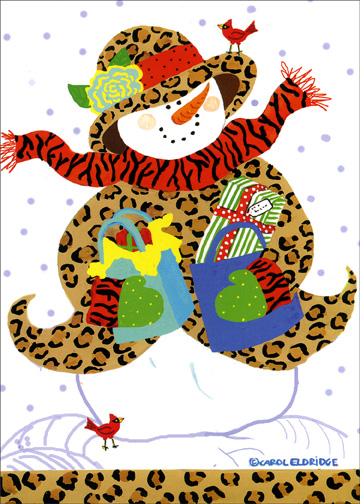 Safari Shopper (18 cards & 18 envelopes) Boxed Holiday Cards - FRONT: No Text  INSIDE: May your holidays be filled with special times and simple pleasures.