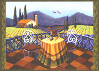 Wine Country Table 2 Holiday Card