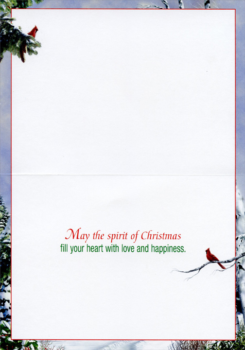 As Winter Calls (1 card/1 envelope) Alan Giana Christmas Card - FRONT: No Text  INSIDE: May the spirit of Christmas fill your heart with love and happiness.