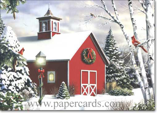 As Winter Calls (1 card/1 envelope) - Christmas Card - FRONT: No Text  INSIDE: May the spirit of Christmas fill your heart with love and happiness.