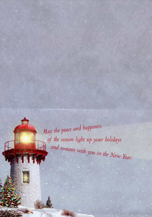 Snow Light (18 cards & 18 envelopes) Alan Giana Boxed Holiday Cards - FRONT: No Text  INSIDE: May the peace and happiness of the season light up your holidays and remain with you in the New Year.