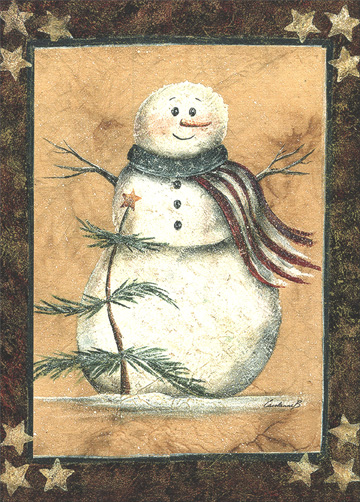 Proud Patriot (1 card/1 envelope) - Christmas Card - FRONT: No Text  INSIDE: Wishing you Happy Holidays and a New Year of Peace