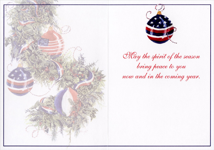 inside - Patriotic Christmas Cards