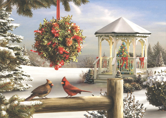 The Spirit of Love (1 card/1 envelope) - Holiday Card - FRONT: No Text  INSIDE: Wishing you a holiday season filled with wonderful moments.. and a New Year filled with dreams come true