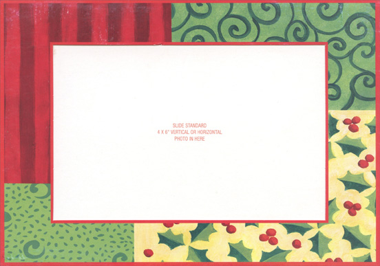Quilted Photo Holder Holiday Card 754576002660 Ebay